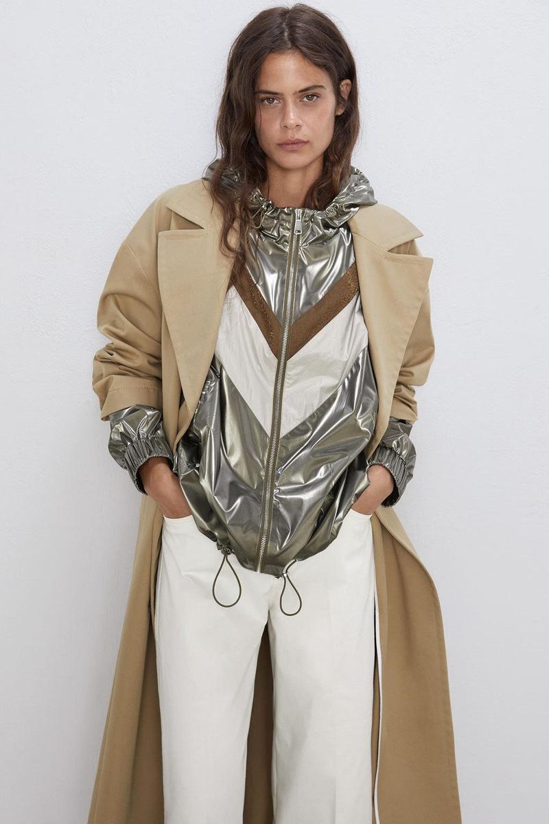 Fashion simple hooded colorblock jacket NHAM157286