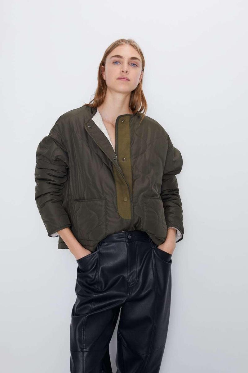 Autumn fleece jacket, women's lamb, thin cotton coat NHAM157308