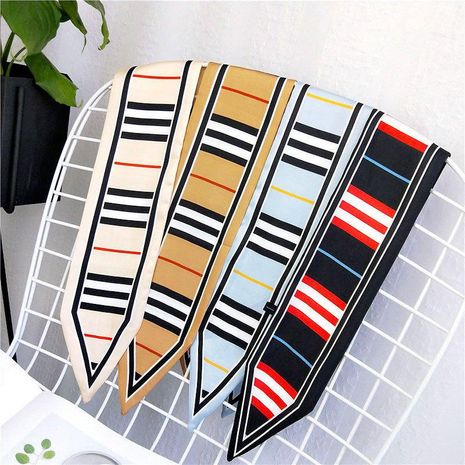Fashion simple striped pointed small scarf NHMN157348's discount tags