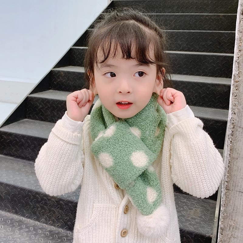 Autumn and winter new plush polka dot scarf NHTZ157358
