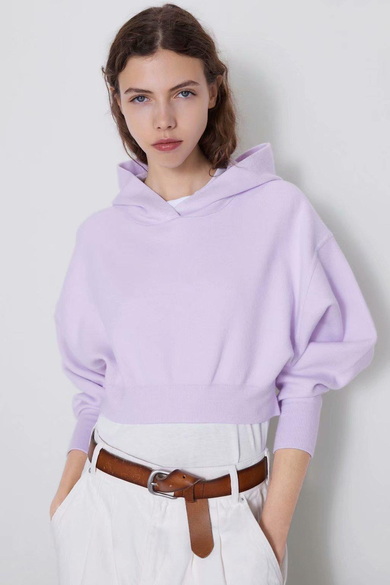 Autumn four-color women's knit sweater hoodie NHAM157359
