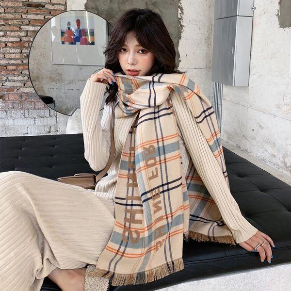 Cashmere printed tassel warm shawl NHTZ157367