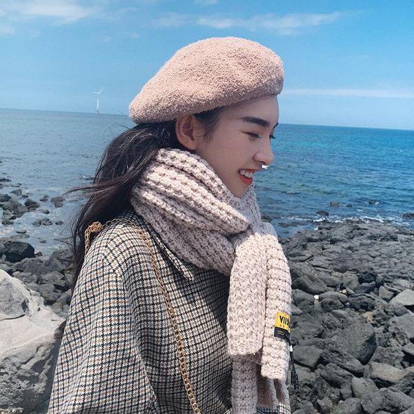 Korean students wild long woolen collar NHTZ157368
