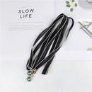 Wire rope slender narrow scarf female scarf NHMN157365