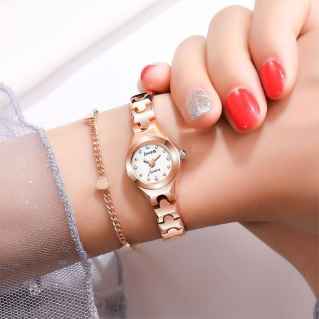 Reloj de pulsera de cuarzo pequeño y fino para mujer, tendencia de diamantes, reloj de pulsera para estudiante NHSY174439's discount tags