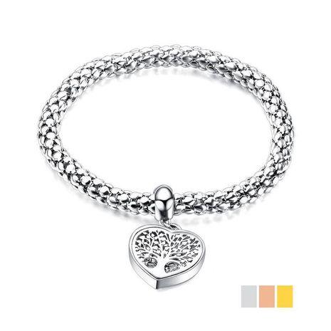 Bracelet arbre de vie creux en acier titane NHOP174469's discount tags