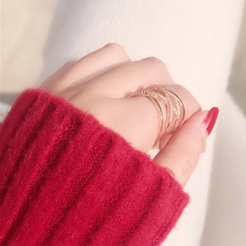 18KGP Plated Gold Zircon Ring Ring NHIM174519