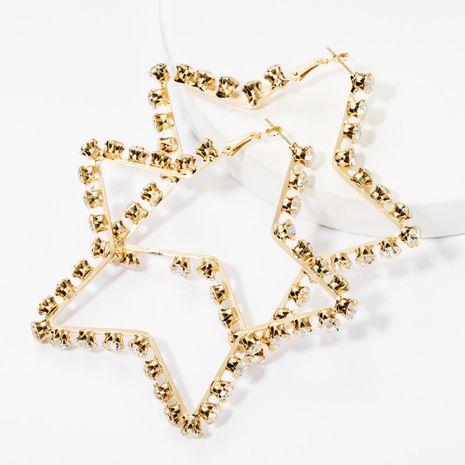 Pendientes de estrella de cinco puntas de diamantes de imitación de diamantes de aleación de moda pendientes simples femeninos NHJE174402's discount tags