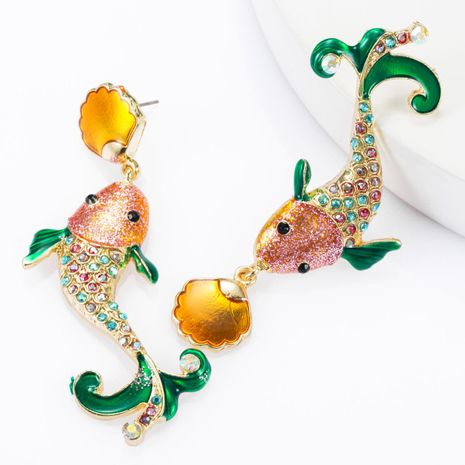 Aleación gotas de diamantes de imitación de aceite tachonado ricos aretes de calamar mujeres pendientes de moda NHJE174316's discount tags