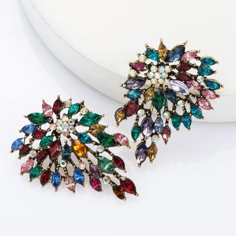 Aretes de diamantes de imitación de diamantes de aleación de moda pendientes de súper flash femeninos NHJE174320's discount tags
