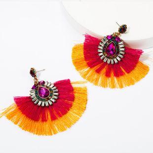 Alloy Diamond Glass Drill Rhinestone Multilayer Tassel Earrings Vintage Earrings Bohemian NHJE174327's discount tags