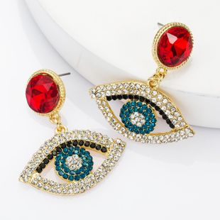 Fashion alloy diamond rhinestone eye earrings female retro earrings NHJE174328's discount tags