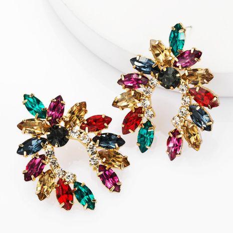 Pendientes geométricos de diamantes de imitación de diamantes de moda para mujer pendientes de diamantes completos súper flash NHJE174329's discount tags