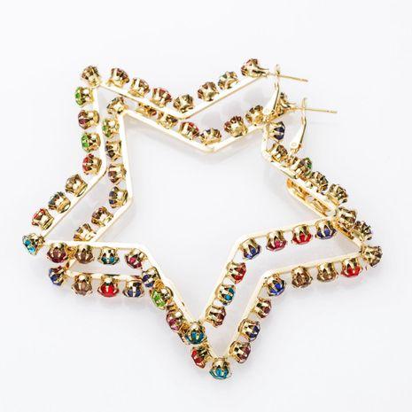 Pendientes de diamantes de color nuevo pendientes de estrella de cinco puntas pendientes simples de moda para mujer NHJE174395's discount tags