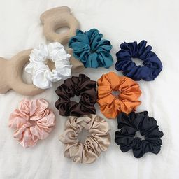 Retro large intestine hair ring female hair lead flower satin tied hair rope hair accessories NHOF173930