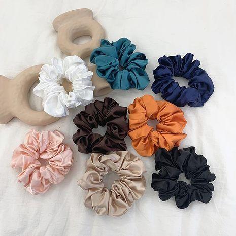 Retro large intestine hair ring female hair lead flower satin tied hair rope hair accessories NHOF173930's discount tags