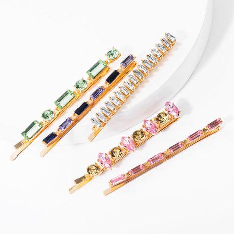 Conjunto de horquilla de diamantes de imitación de diamantes de colores para niña, corazón, palabra, clip, conjunto de cinco piezas, tarjeta súper flash NHJE174335's discount tags