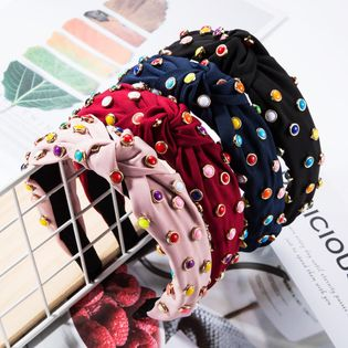 Cloth multi-layer small round alloy drop oil cloth headband fashion headband NHJE174400