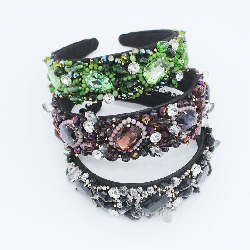 New headband full diamond gem multicolor luxury ball fashion headband accessories NHWJ173946