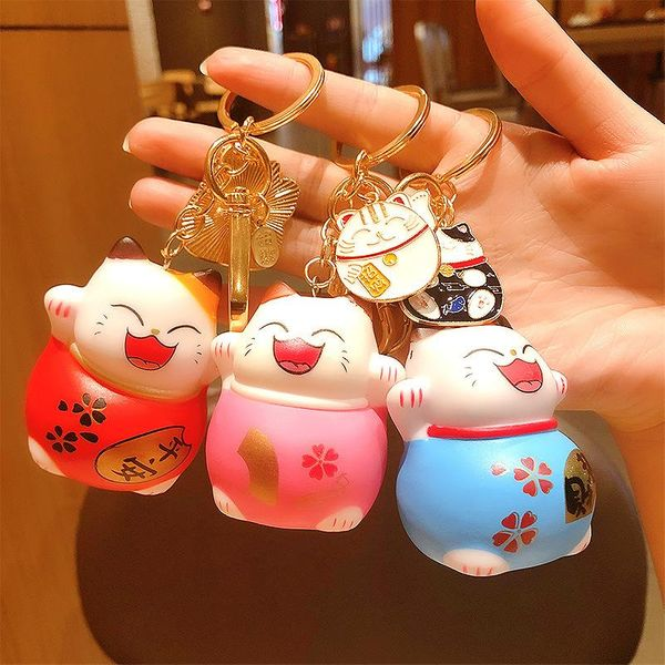 Autumn and winter new silicone charcoal cat keychain Chinese style year key chain NHCB174475