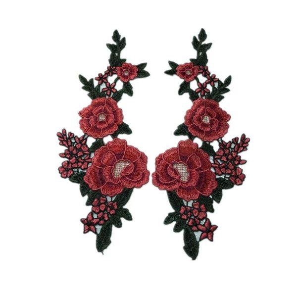 Nuevo bordado de color soluble en agua collar de flores apliques de encaje collar de flores de bricolaje accesorios de costura de ropa NHLT174249