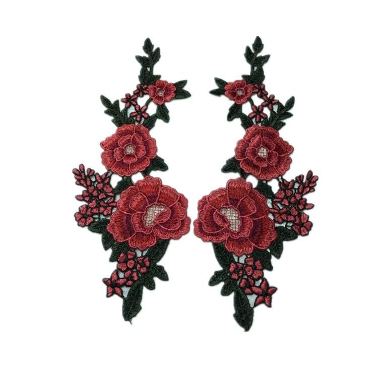 New color embroidery water soluble collar flower applique lace collar DIY flower collar sewing accessories clothing NHLT174249