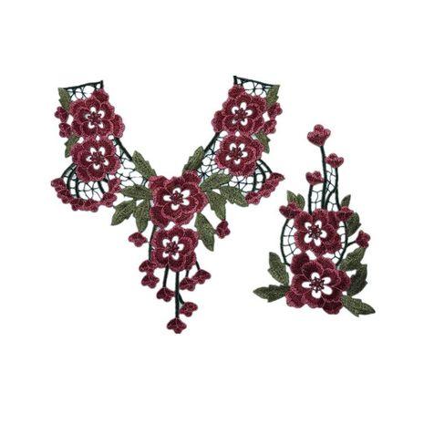 Apliques de moda estilo étnico flores de colores NHLT174251's discount tags