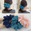 Retro large intestine hair ring female hair lead flower satin tied hair rope hair accessories NHOF173930
