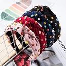 Cloth multilayer small round alloy drop oil cloth headband fashion headband NHJE174400