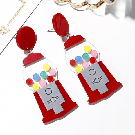 New creative funny exaggerated gashapon machine game machine shape earrings ear clip NHXI176924's discount tags