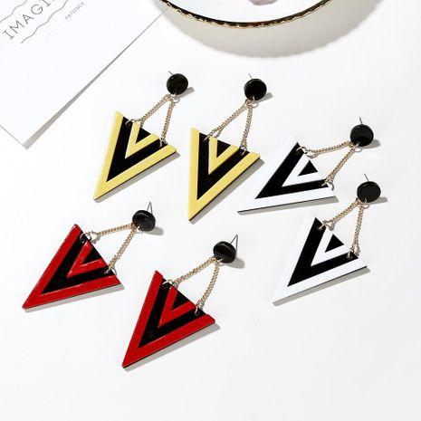 Exaggerated earrings temperament acrylic triangle earrings earrings female NHXI176925's discount tags