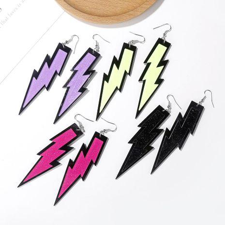 New three-dimensional lightning pendant earrings exaggerated acrylic earrings creative fun jewelry NHXI176926's discount tags