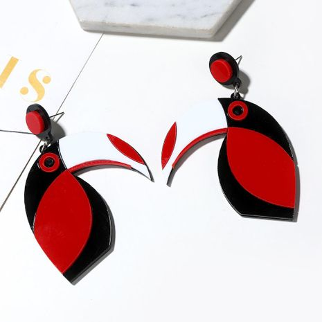 New fashion simple exaggerated acrylic parrot earrings trend earrings NHXI176929's discount tags