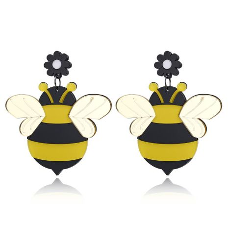 Fashion new high-grade acrylic bee earrings cartoon cute earrings female NHXI176931's discount tags