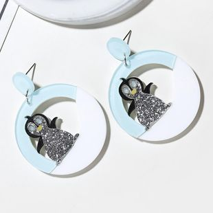 New fashion personality cute little animal acrylic earrings hollow penguin earrings female NHXI176932's discount tags