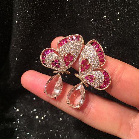 S925 Silver Fashion Luxury Openwork Butterfly Wing Earrings Dinner Dress Accessories Earrings NHWK177030's discount tags