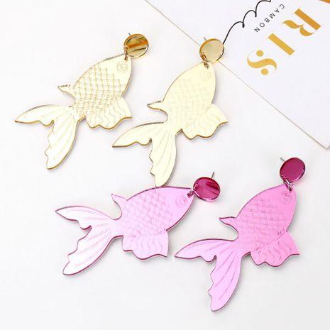 Creative handmade earrings creative personality retro jewelry goldfish koi earrings female NHXI176900's discount tags
