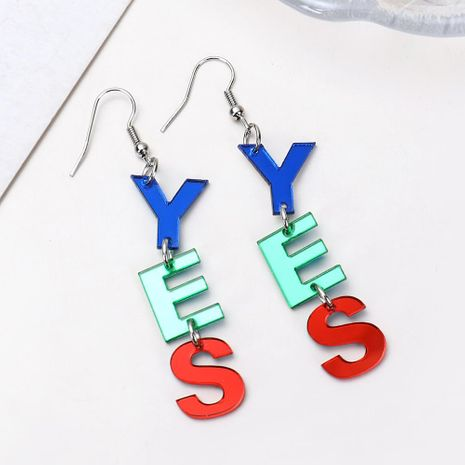 New letter ear jewelry fashion YES color acrylic earrings earrings female NHXI176902's discount tags