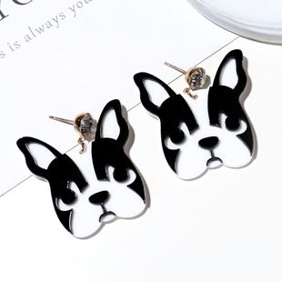Cute cute pet earrings creative fun animal puppies earrings simple long earrings female NHXI176905's discount tags
