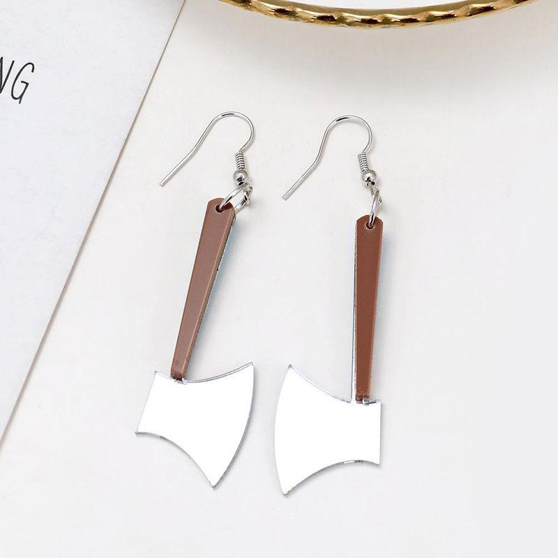 Creative ear jewelry fashion fun creative simple acrylic small axe earrings NHXI176908