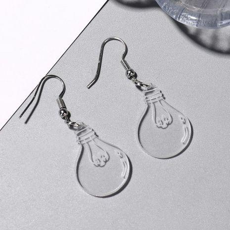 Cute bulb earrings transparent acrylic earrings fun funny personality ear clip female NHXI176909's discount tags