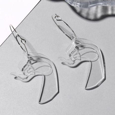 Earrings Creative Cool Wind Acrylic Hook Ear Stud Ear Ornaments Female NHXI176910's discount tags