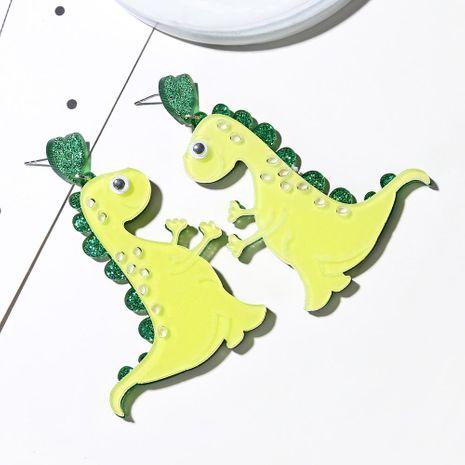 Cute cute pet earrings fashion cartoon monster green dinosaur earrings female NHXI176912's discount tags