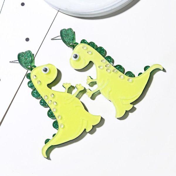 Cute cute pet earrings fashion cartoon monster green dinosaur earrings female NHXI176912