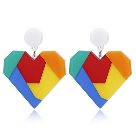 New color puzzle acrylic love earrings fashion earrings female NHXI176935's discount tags