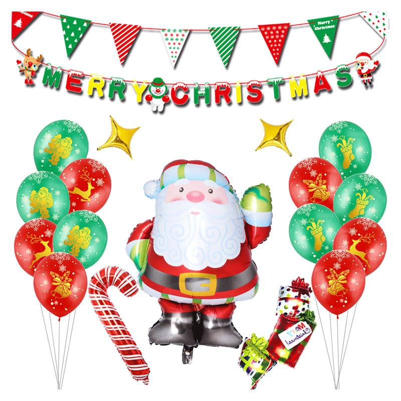 Christmas Santa Claus Balloon Set Holiday Set Party Decoration Christmas Aluminum Balloon NHSG177033