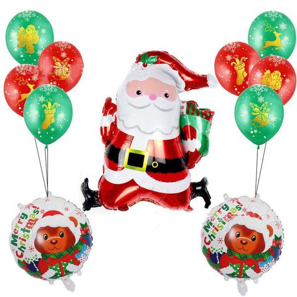 New Santa aluminum film balloon Christmas supplies atmosphere layout holiday balloon set NHSG177036