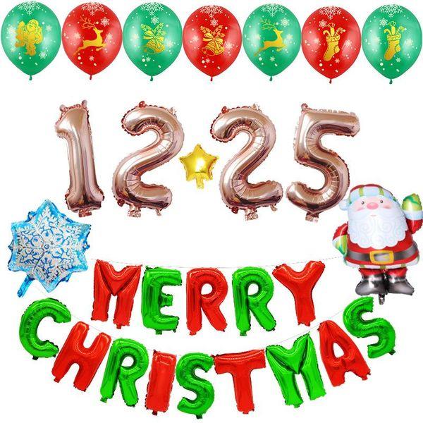 Balloon Christmas Aluminum Balloons Merry Christmas Festival Christmas Balloon Set Christmas Balloons NHSG177037