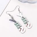 New letter ear jewelry fashion YES color acrylic earrings earrings female NHXI176902