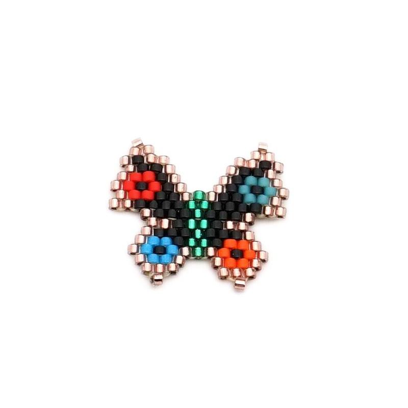 Miyuki Red Butterfly Ornament Accessories Bracelet Earrings Necklace Set NHGW177243